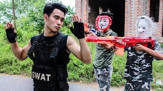 Hihahe Nerf War: SWAT & Elite Warrior Nerf Guns Assassins Investigative Detective Nerf war