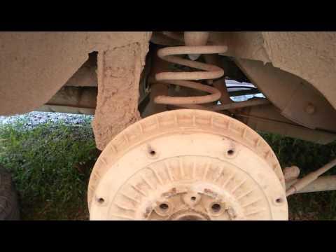 Прокладка пружины задней подвески, замена пружины.