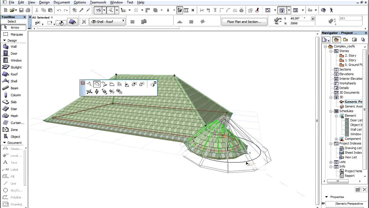 Complex Roofs In Archicad Adding A Tower To The Roof