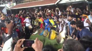 Celebrities Performing with Drums  #Shivamani at #Natchathira Cricket ( Mammootty , Vikram )