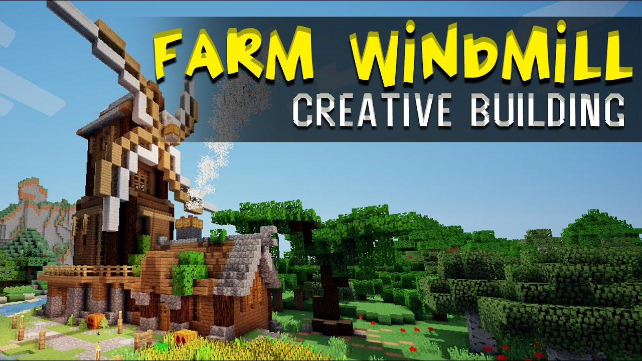 Windmill farm :... Minecraft Windmill Farm