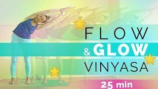 Vinyasa Flow Yoga for Flexibility (25-min) Flow & Glow Yoga