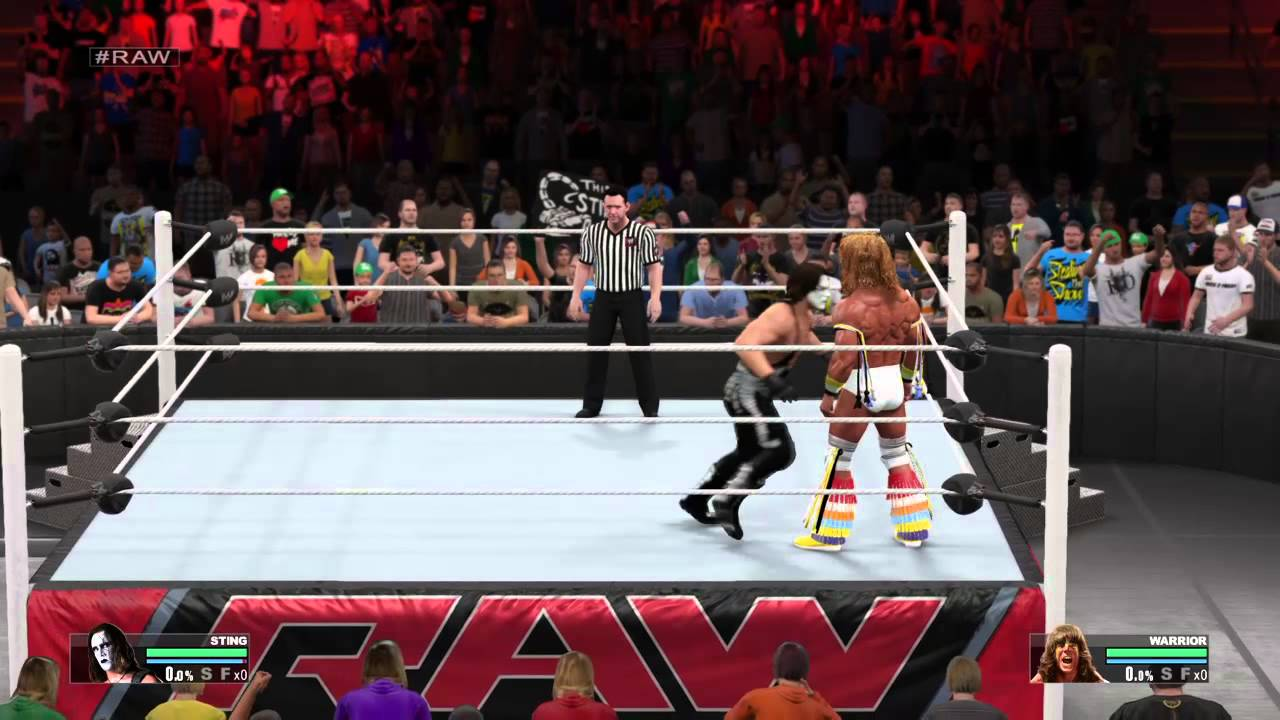 WWE 2K15 Sting vs Ultimate Warrior - YouTube