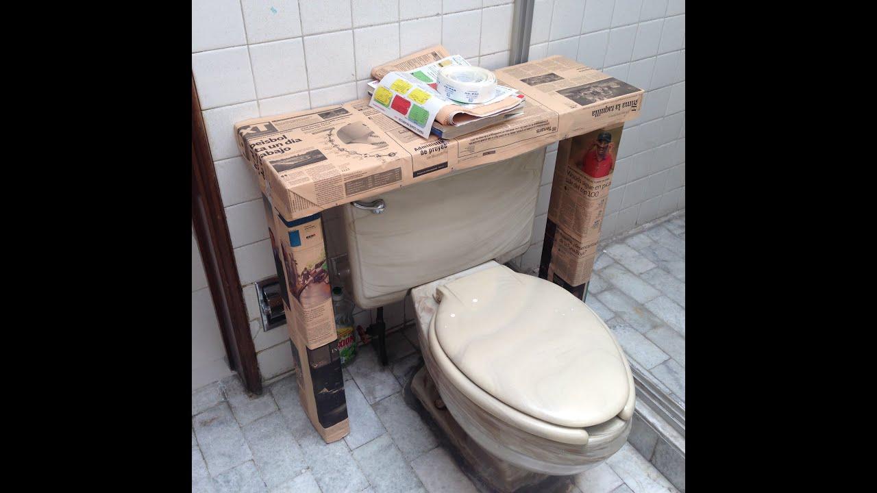 Mueble hecho con cajas de leche o tetrapack facil youtube - Manualidades con muebles ...