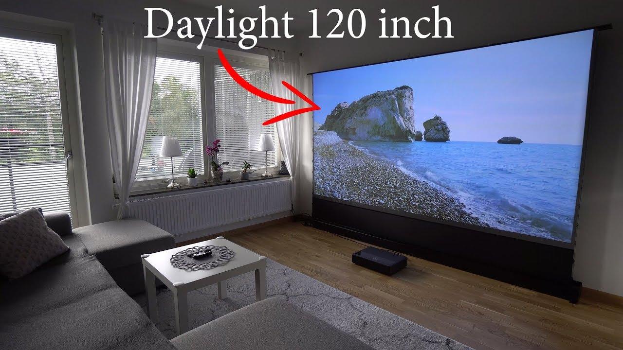 VividStorm 120'' Floor Rising UST Projection Screen