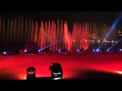 Qatar. Laser show