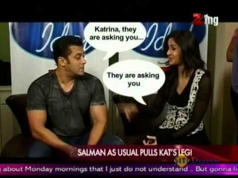 Salman As Usual Pulls Kat's Leg