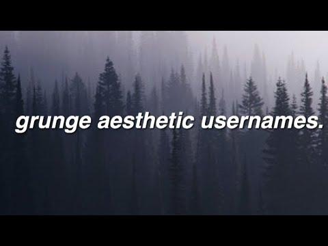 grunge aesthetic usernames