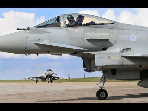 RAF Typhoon in Romania