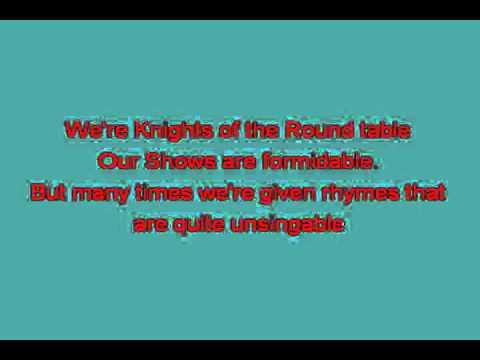 Monty Python   Camelot Song [karaoke]