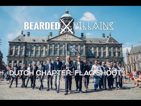 BEARDED VILLAINS flag shoot Amsterdam