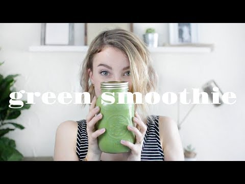 GREEN SMOOTHIE Recipe | Clear Skin & Weight Loss