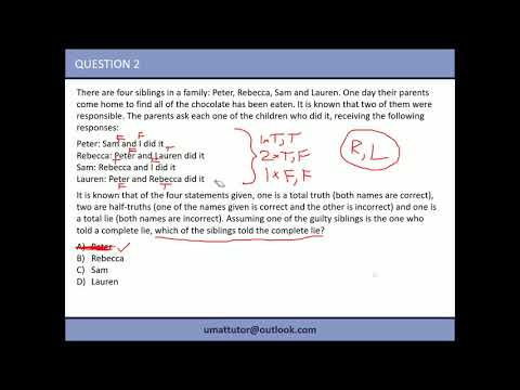 UMAT Section 1, Tutorial 3: The 'trial and error' technique