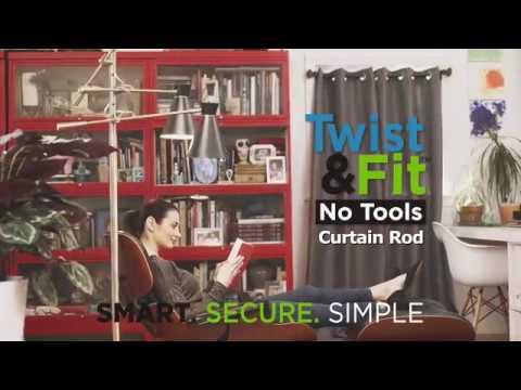 kenney twist fit no tools curtain rod