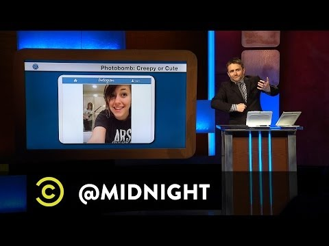 @midnight w/ Chris Hardwick (@Nerdist) - Photobomb: Creepy or Cute - Paris Hilton & Prom