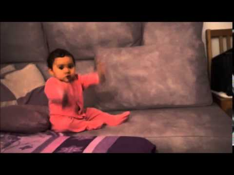 9 month old baby is sitting and dancing to Bold & Beautiful theme song