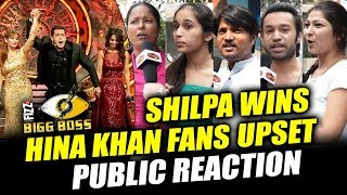 Hina Khan FANS UPSET With Shilpa Shinde's Bigg Boss 11 WIN | Public Reaction