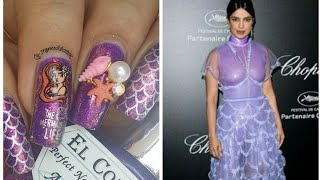 Mermaid Nail Art Tutorial Inspired by Priyanka Chopra's Cannes 2019 dress!! ?♂️??♀️