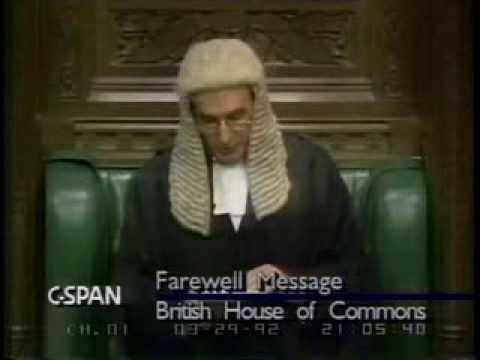 Speaker Weatherill's Farewell Message