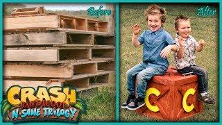 DIY Crash Bandicoot Box - from pallet wood