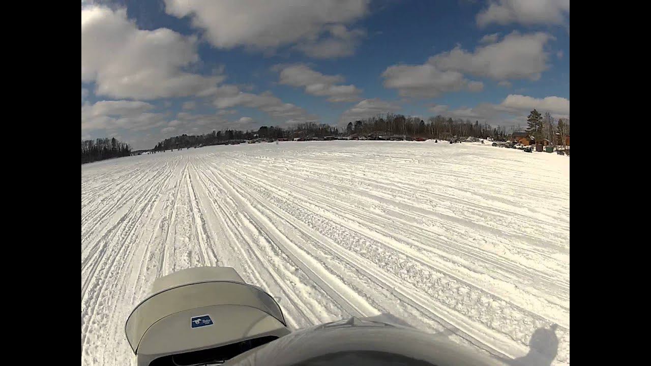 Duluth mn fish lake vintage snowmobile youtube for Duluth mn fishing report