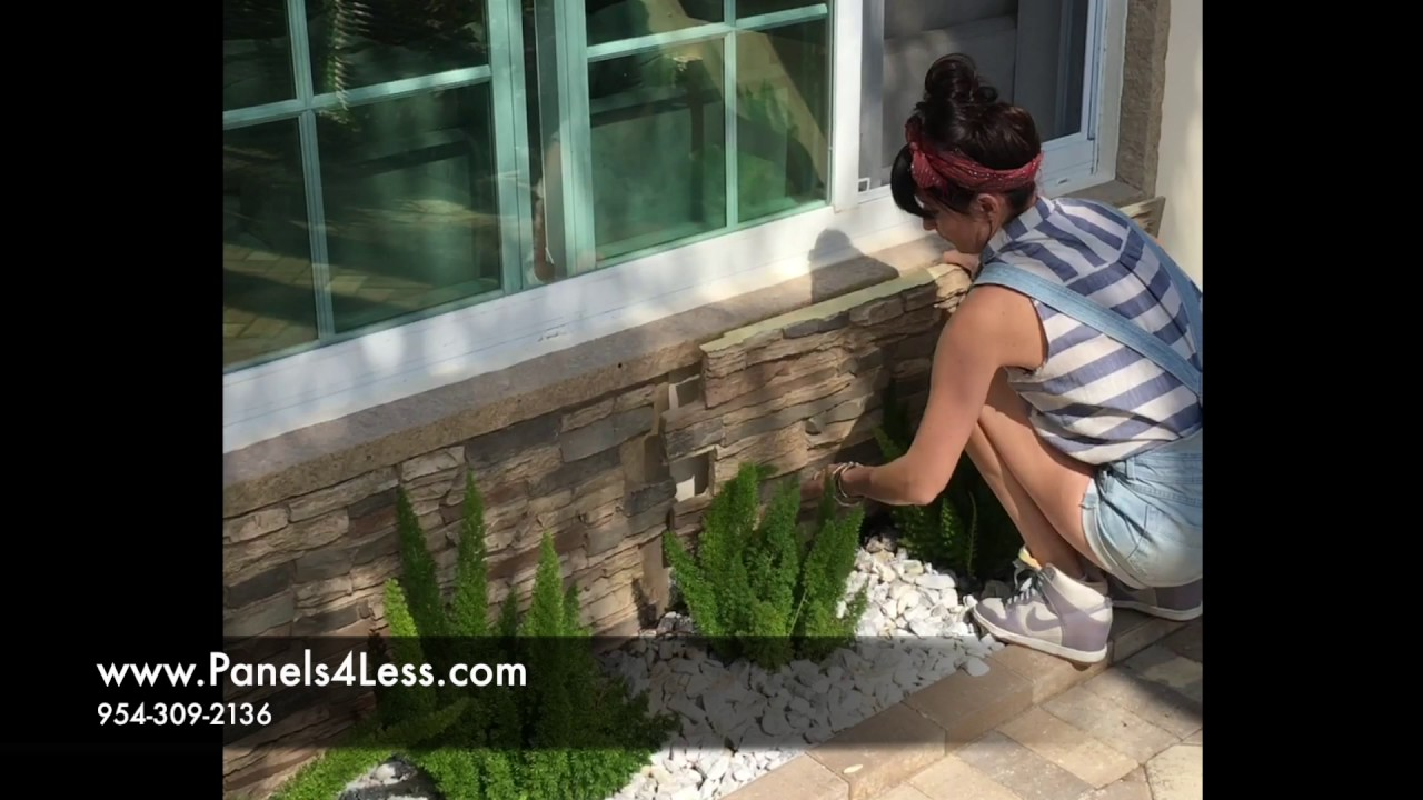Diy Faux Stone Wall Panel Install Video Youtube