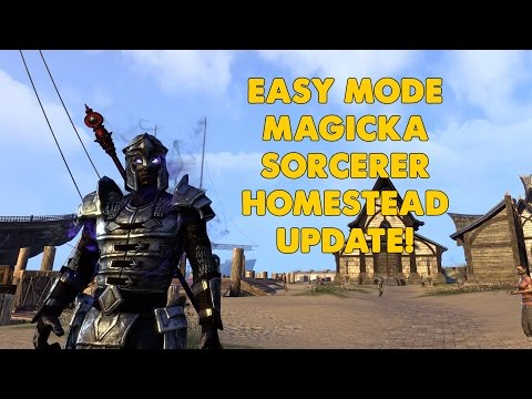 ESO - Magicka Sorcerer PVE Build - EASY MODE!   (Homestead Update)