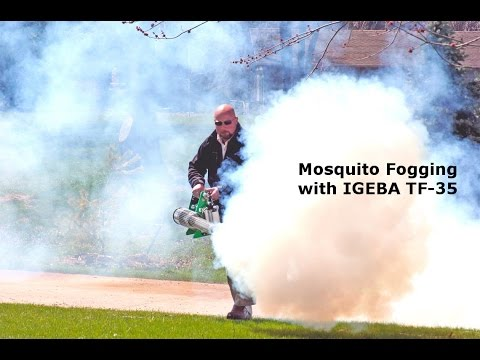 Mosquito Fogging with an IGEBA TF-35 Pulse Jet Thermal Fogger