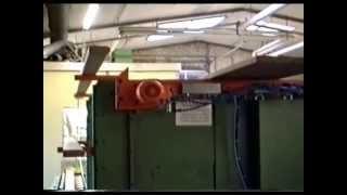 Stapelmaschine / Abstapelung hinter WEINIG Hobelmaschine Timme Mechanisierung