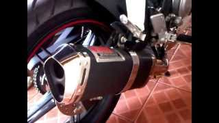 New Vixion Lightning With Yoshimura R77 Carbon Vinnyl Full System (idle sound)