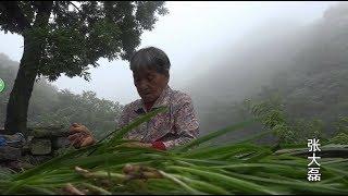 与世隔绝的深山里 人间仙境 70多岁老大娘用了三个小时做了一顿饭