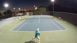 Men's 4.5 Tennis Match - Hitting better against a tough opponent
