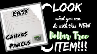 LOOK what you can do with these Dollar Tree Canvas Panels!!!!! QUICK and EASY Dollar Tree Diy