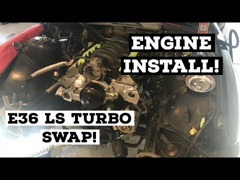 LS ENGINE INSTALL! - E36 LS TURBO SWAP PART 7