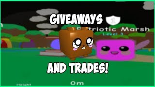 Giveaways And Trades! (Only Legendary Pets!) Road To 2K! - Roblox Bubble Gum Simulator