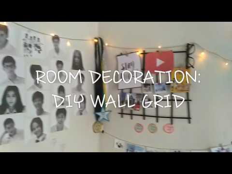 ROOM DECORATION: DIY Wall Grid