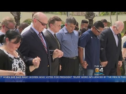 Moment Of Silence Held For FIU Bridge Collapse Victims