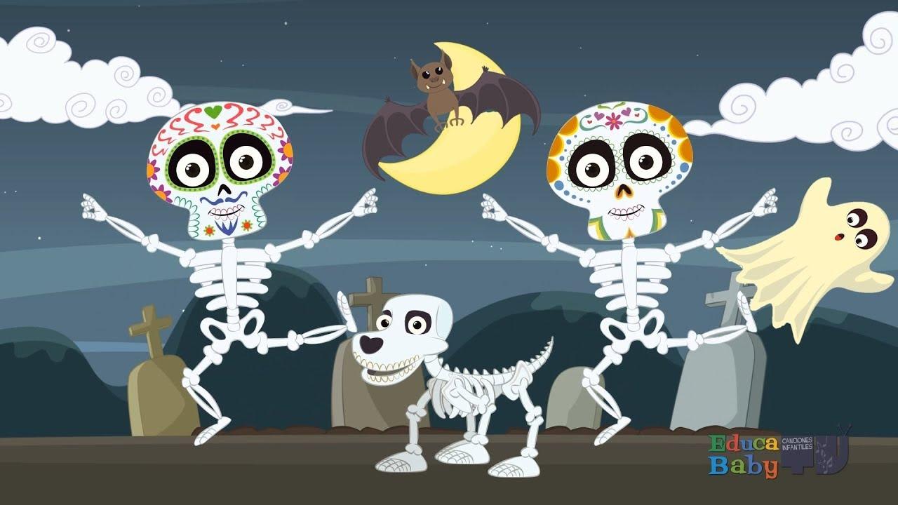 Las Calaveras Salen De Su Tumba Chumbala Cachumbala Canciones Infantiles De Halloween Youtube