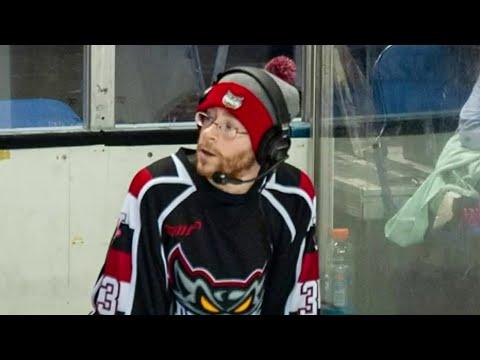 Port Huron hockey announcer suits up when team needs goalie