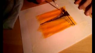 Watercolor sunset (speed drawing