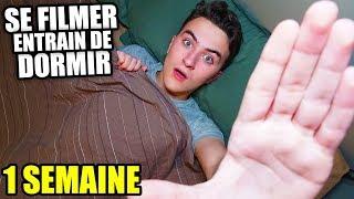JE ME SUIS FILMÉ EN TRAIN DE DORMIR PENDANT 1 SEMAINE | HugoPOSAY
