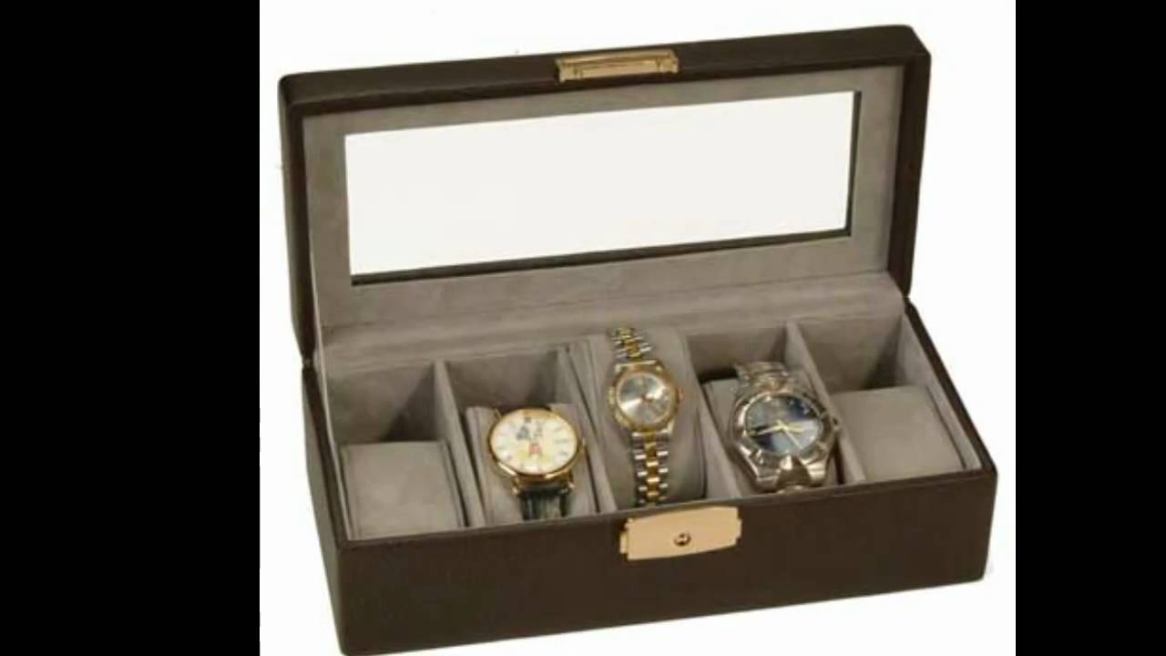 mens leather jewelry box valet tray or boxes