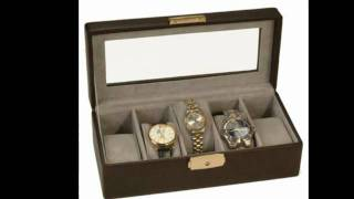 Mens Leather Jewelry Box, Valet Tray Or Watch Boxes