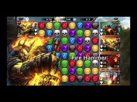 Gems of War | Guild Wars | Best Red day team | near perfect again !!!