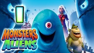 Monsters VS Aliens Walkthrough Part 1 (PS3, X360, Wii, PS2) ~ Ginormica Level 1