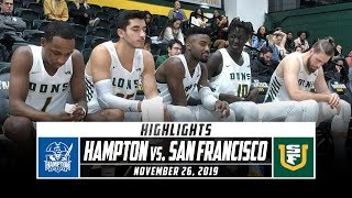 Hampton Vs. San Francisco Basketball Highlights (2019 20) | Stadium