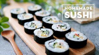How to make Sushi ❤ 怎样做寿司    #littleduckkitchen