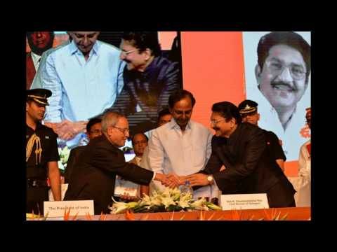 Uniki Book Launch By CM KCR and President of India Pranab Mukherjee