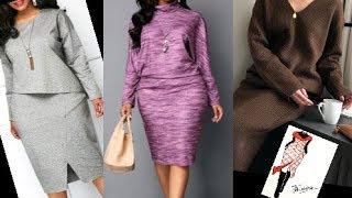Теплые платья для женщин за 50.Зима 2020