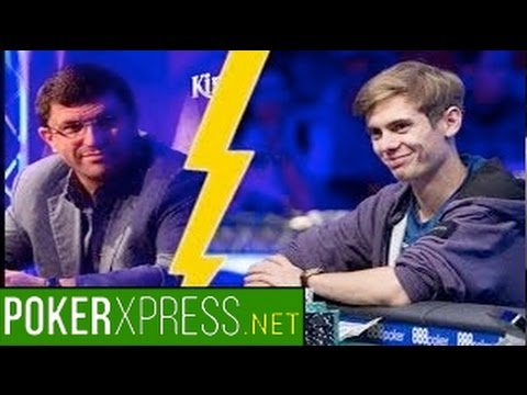 Fedor Holz tries to bluff Leon Tsoukernik at a high stakes poker cash game